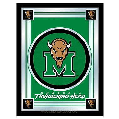 Holland Bar Stool NCAA Logo Mirror Framed Graphic Art; Marshall