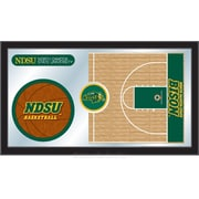 Holland Bar Stool NCAA Basketball Mirror Framed Graphic Art; North Dakota State