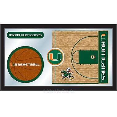 Holland Bar Stool NCAA Basketball Mirror Framed Graphic Art; Miami