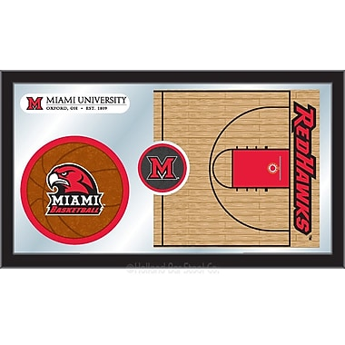 Holland Bar Stool NCAA Basketball Mirror Framed Graphic Art; Miami of Ohio