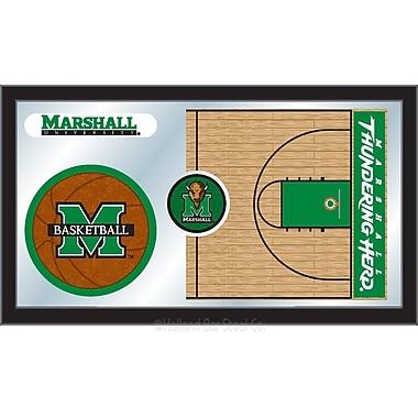 Holland Bar Stool NCAA Basketball Mirror Framed Graphic Art; Marshall