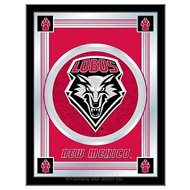 Holland Bar Stool NCAA Logo Mirror Framed Graphic Art; New Mexico