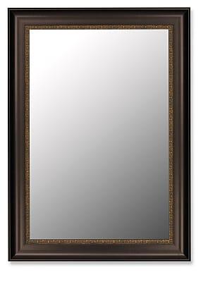 Second Look Mirrors Flemish Mahogony Gold Fillet Wall Mirror; 54.25''H x 42.25''W x 2''D