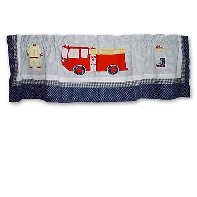 Patch Magic Fire Truck 54'' Curtain Valance