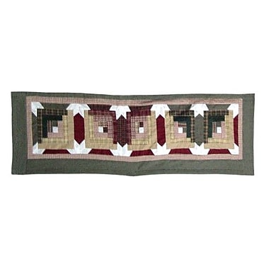 Patch Magic Snowflake Log Cabin 54'' Curtain Valance