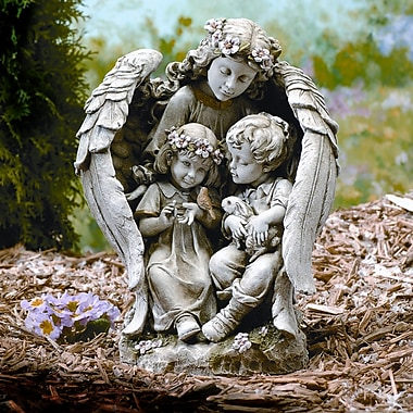 Roman, Inc. Angel w/ Children Statue