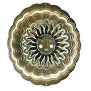 Next Innovations Eyecatchers Sun Face Wind Spinner; Antique Gold