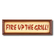 RAM Game Room Fire Up the Grill Garden Plaque