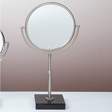 Bissonnet Kosmetic Olympia Makeup Mirror; Brushed Nickel