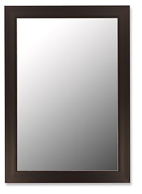 Hitchcock Butterfield Company Rubicon Espresso Silver Wall Mirror; 45.5''H x 35.5''W x 1.5''D