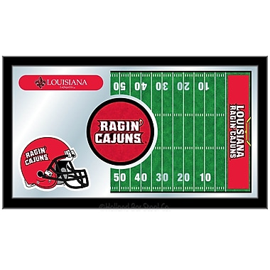 Holland Bar Stool NCAA Football Mirror Framed Graphic Art; Louisiana-Lafayette