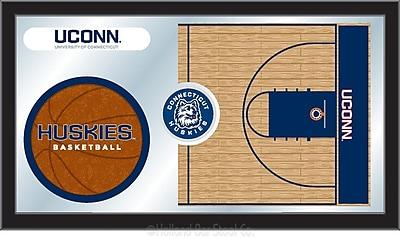 Holland Bar Stool NCAA Basketball Mirror Framed Graphic Art; Connecticut