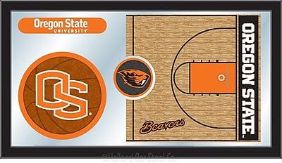 Holland Bar Stool NCAA Basketball Mirror Framed Graphic Art; Oregon State