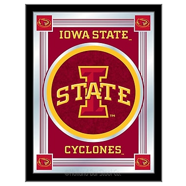 Holland Bar Stool NCAA Logo Mirror Framed Graphic Art; Iowa State