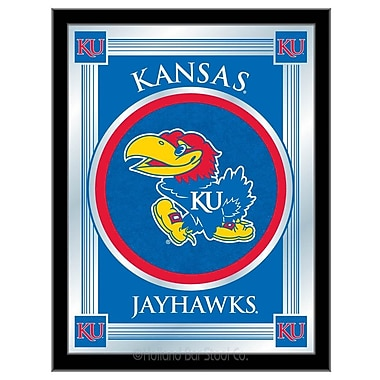 Holland Bar Stool NCAA Logo Mirror Framed Graphic Art; Kansas