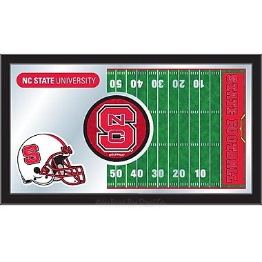 Holland Bar Stool NCAA Football Mirror Framed Graphic Art; North Carolina State