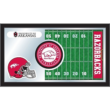 Holland Bar Stool NCAA Football Mirror Framed Graphic Art; Arkansas