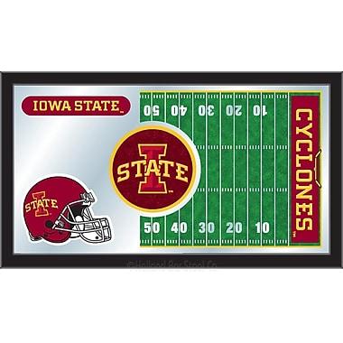 Holland Bar Stool NCAA Football Mirror Framed Graphic Art; Iowa State