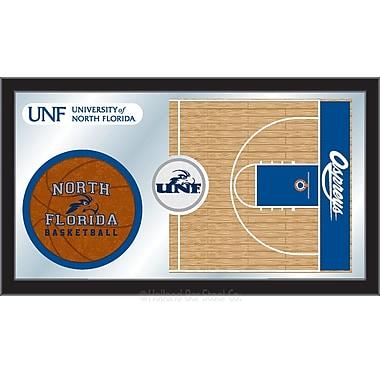 Holland Bar Stool NCAA Basketball Mirror Framed Graphic Art; North Florida