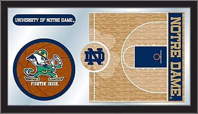 Holland Bar Stool NCAA Basketball Mirror Framed Graphic Art; Notre Dame