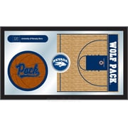 Holland Bar Stool NCAA Basketball Mirror Framed Graphic Art; Nevada