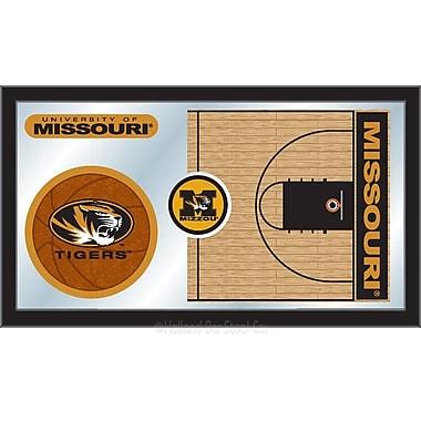 Holland Bar Stool NCAA Basketball Mirror Framed Graphic Art; Missouri