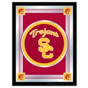 Holland Bar Stool NCAA  Logo Mirror Framed Graphic Art; Southern California