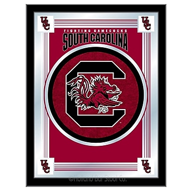 Holland Bar Stool NCAA Logo Mirror Framed Graphic Art; South Carolina