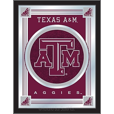 Holland Bar Stool NCAA Logo Mirror Framed Graphic Art; Texas A&M