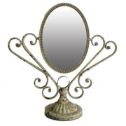 Cheungs Victorian Double Sided Swivel Makeup/Shaving Wall Mirror