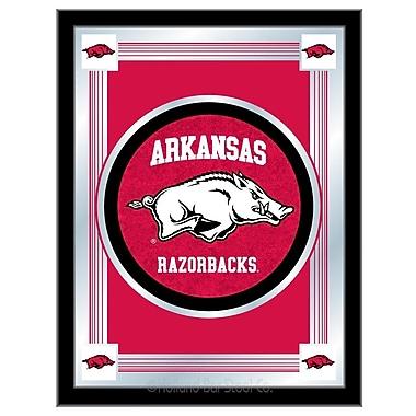 Holland Bar Stool NCAA Logo Mirror Framed Graphic Art; Arkansas