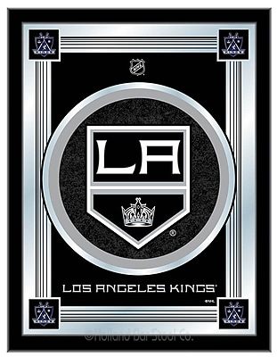 Holland Bar Stool NHL Logo Mirror Framed Graphic Art; Los Angeles Kings