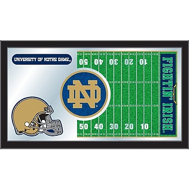 Holland Bar Stool NCAA Football Mirror Framed Graphic Art; Notre Dame
