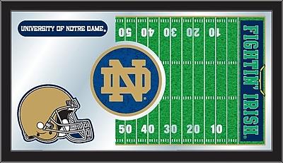 Holland Bar Stool NCAA Football Mirror Framed Graphic Art; Notre Dame