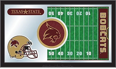 Holland Bar Stool NCAA Football Mirror Framed Graphic Art; Texas State