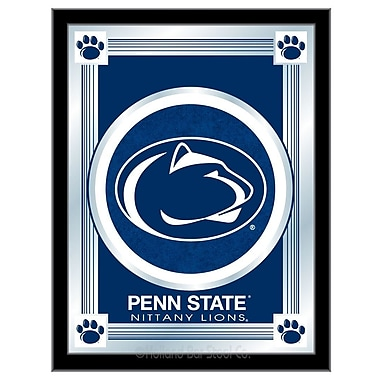 Holland Bar Stool NCAA Logo Mirror Framed Graphic Art; Penn State