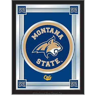 Holland Bar Stool NCAA Logo Mirror Framed Graphic Art; Montana State