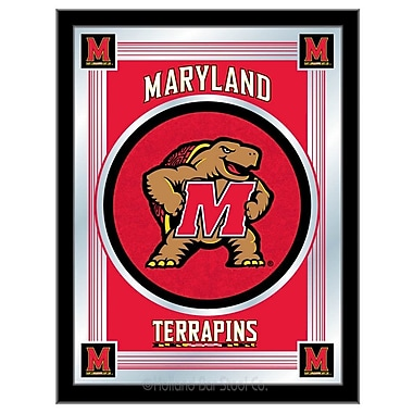 Holland Bar Stool NCAA Logo Mirror Framed Graphic Art; Maryland