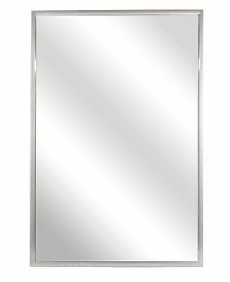 Bradley Corporation Fixed Angle Tilt-Frame Wall Mirror; 36'' H x 18'' W