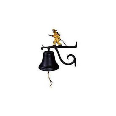 Montague Metal Products Cast Fireman Bell; Black