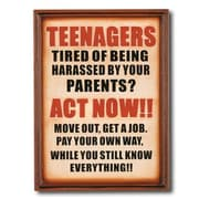 RAM Game Room ''Note To Your Teenagers'' Outdoor Sign