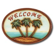 RAM Game Room Welcome Palm Trees Garden Plaque