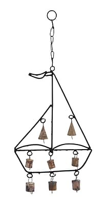 Woodland Imports Metal Boat Wind Chime