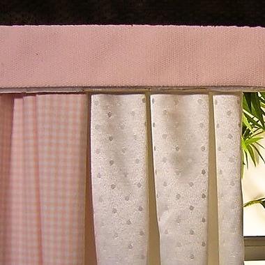 Brandee Danielle Pink Chocolate Curtain Valance