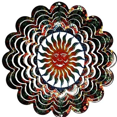 Next Innovations Eycatcher Kaleidoscope Sun Face Wind Spinner; Medium