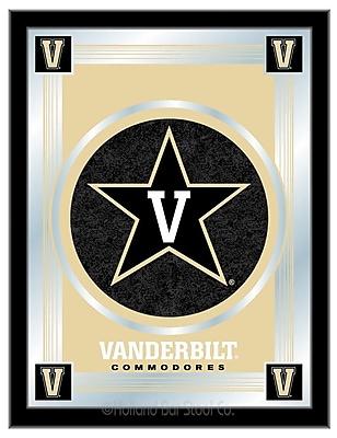 Holland Bar Stool NCAA Logo Mirror Framed Graphic Art; Vanderbilt