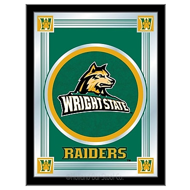 Holland Bar Stool NCAA Logo Mirror Framed Graphic Art; Wright State