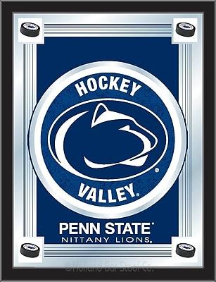 Holland Bar Stool NCAA Logo Mirror Framed Graphic Art; Penn State Hockey