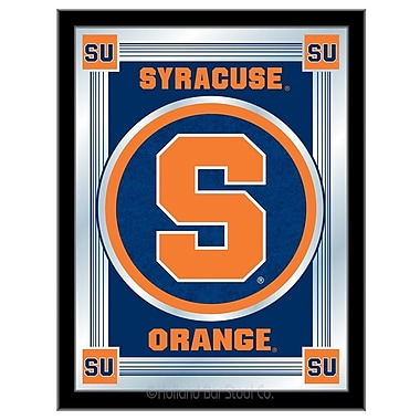 Holland Bar Stool NCAA Logo Mirror Framed Graphic Art; Syracuse