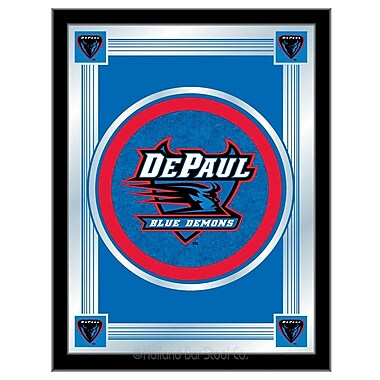 Holland Bar Stool NCAA Logo Mirror Framed Graphic Art; DePaul